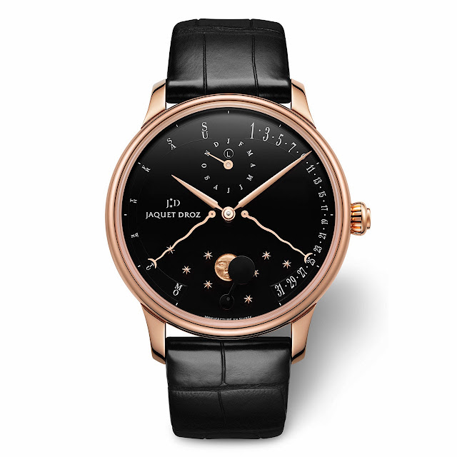 Jaquet Droz Perpetual Calendar Éclipse Watch black dial