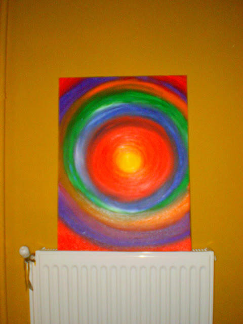 acrylic painting easy coloured circles
