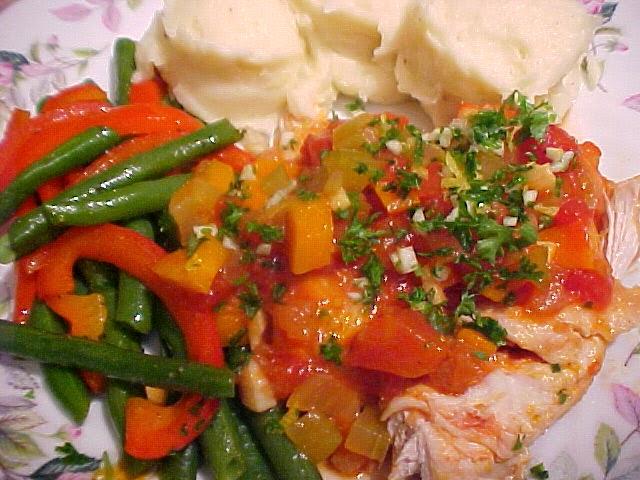 Casserole de poulet citronné à l'italienne