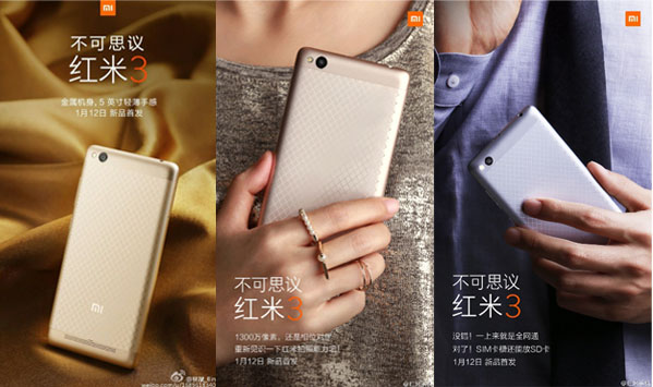 Tampilan Xiaomi Redmi 3