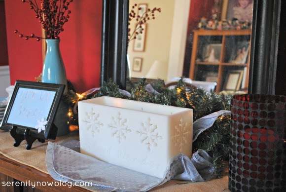 Christmas Decorations in Dining Room, Serenity Now blog