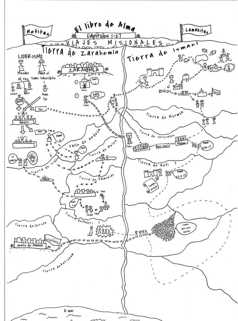 Una ayuda idónea: Mapa de las misiones de Alma, hijo.