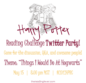 Harry Potter Reading Challenge Twitter Party Invite!