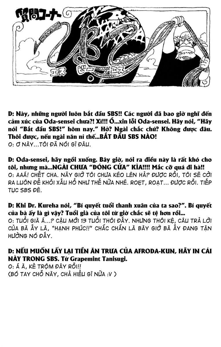 One Piece - Góc Hỏi Đáp SBS Chap 18 - Truyen.Chap.VN
