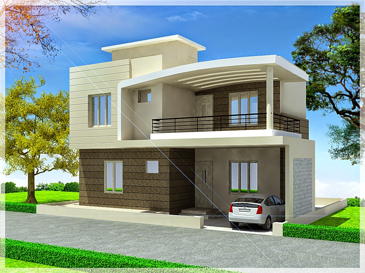 Ghar planner leading house plan and house design for Duplex townhouse designs