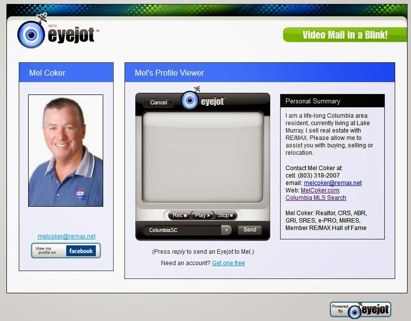 http://www.eyejot.com/users/ColumbiaSC