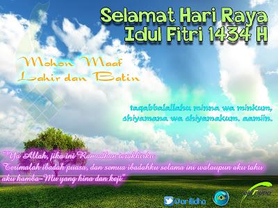 Selamat Hari Raya Idul Fitri 1434 H.
