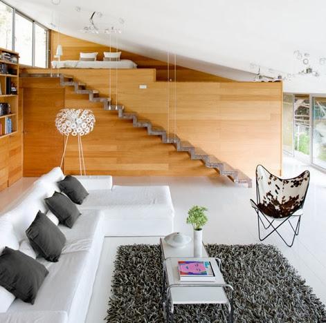una casa con espacios abiertos