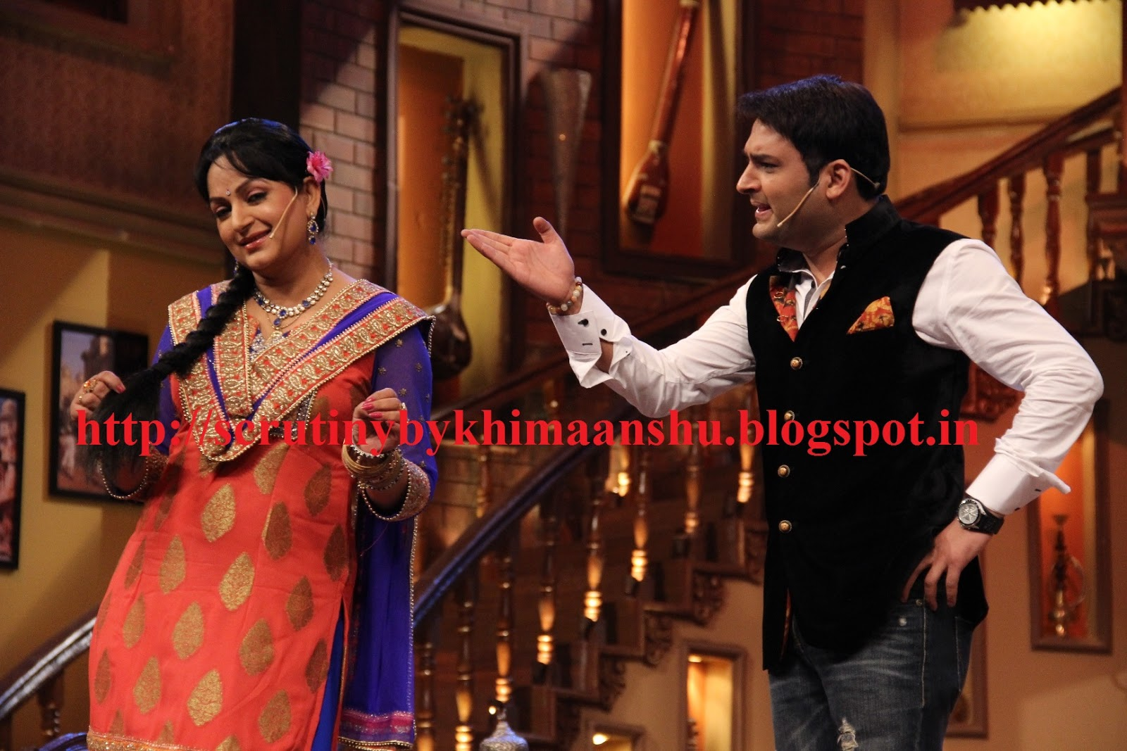 Singh with kapil sharma on the launch of comedy nights with kapil