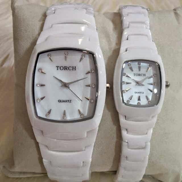 Torch Keramik Couple silver putih
