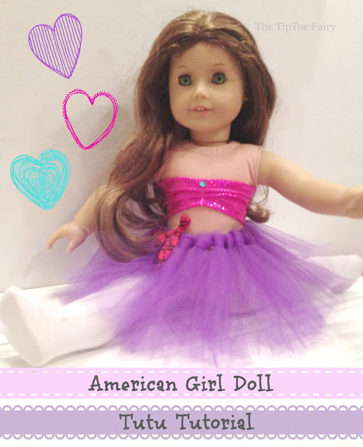 American Girl No Sew Tutu Tutorial | The TipToe Fairy
