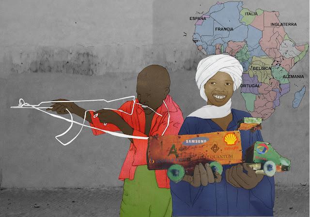 niños africa juguetes hechos por ellos, neocolonialismo