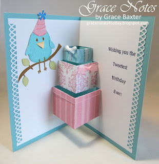 Pop-up Gifts Birthday Card, by Grace Baxter at gracenotes4today.blogspot.com