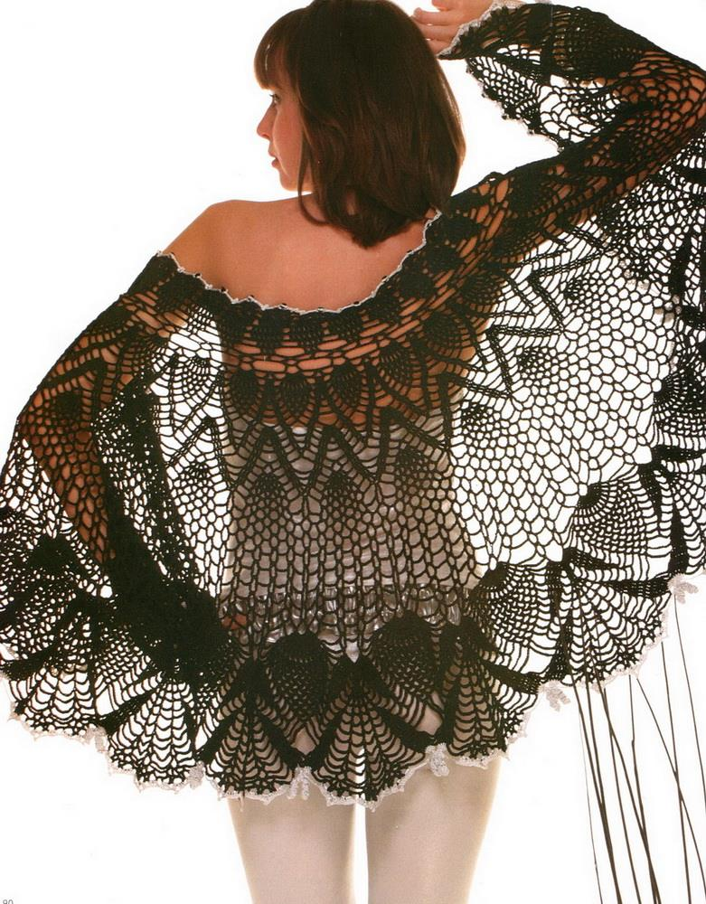 Crochet Patterns For Shawls : Crochet Shawls: Crochet Lace Shawl Cape - Gorgeous Crochet Pineapple ...