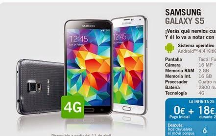 Samsung Galaxy S5 YOIGO: precios y características principales