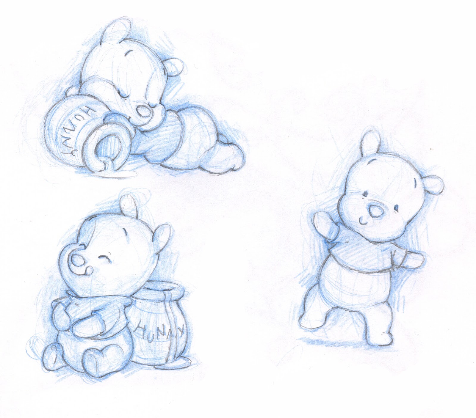 Shane Made Art: Baby Pooh and friends sketches