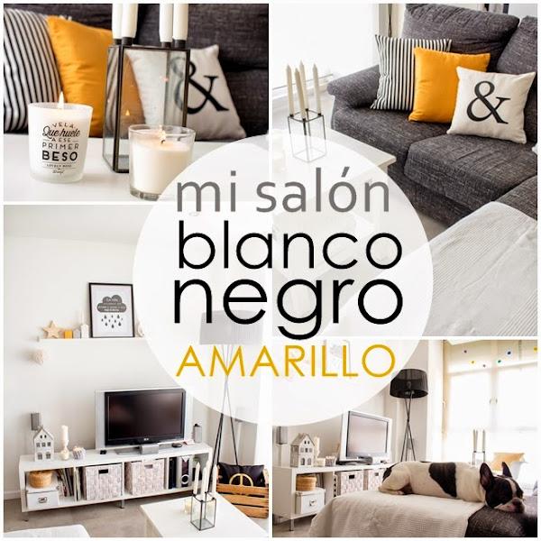 Amarillo mostaza decorar tu casa es - Salones en blanco y negro ...