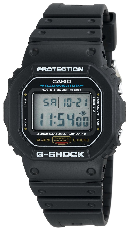 Casio mens g shock classic digital watch dw5600e 1v watch