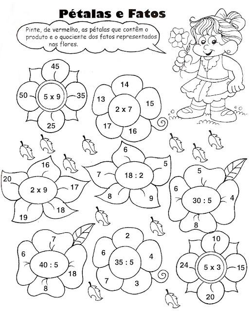 Educar Para A Vida Divisão E Multiplicação 3º Ano