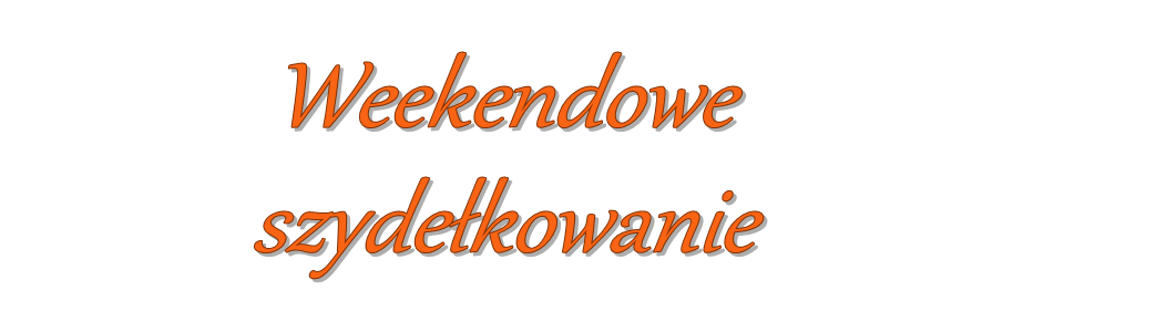 .Weekendowe szydekowanie.