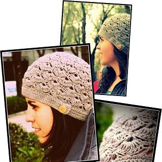 Gorro de abanicos a Crochet