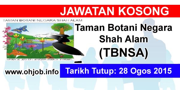 Jawatan Kerja Kosong Taman Botani Negara Shah Alam (TBNSA) logo www.ohjob.info ogos 2015