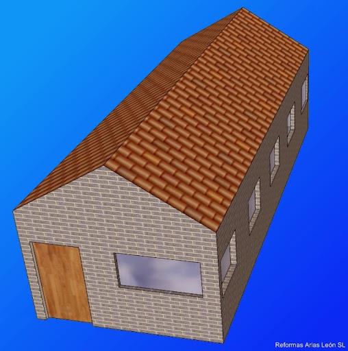 Reformas arias le n tejado a dos aguas definici n for Tejado madera 2 aguas