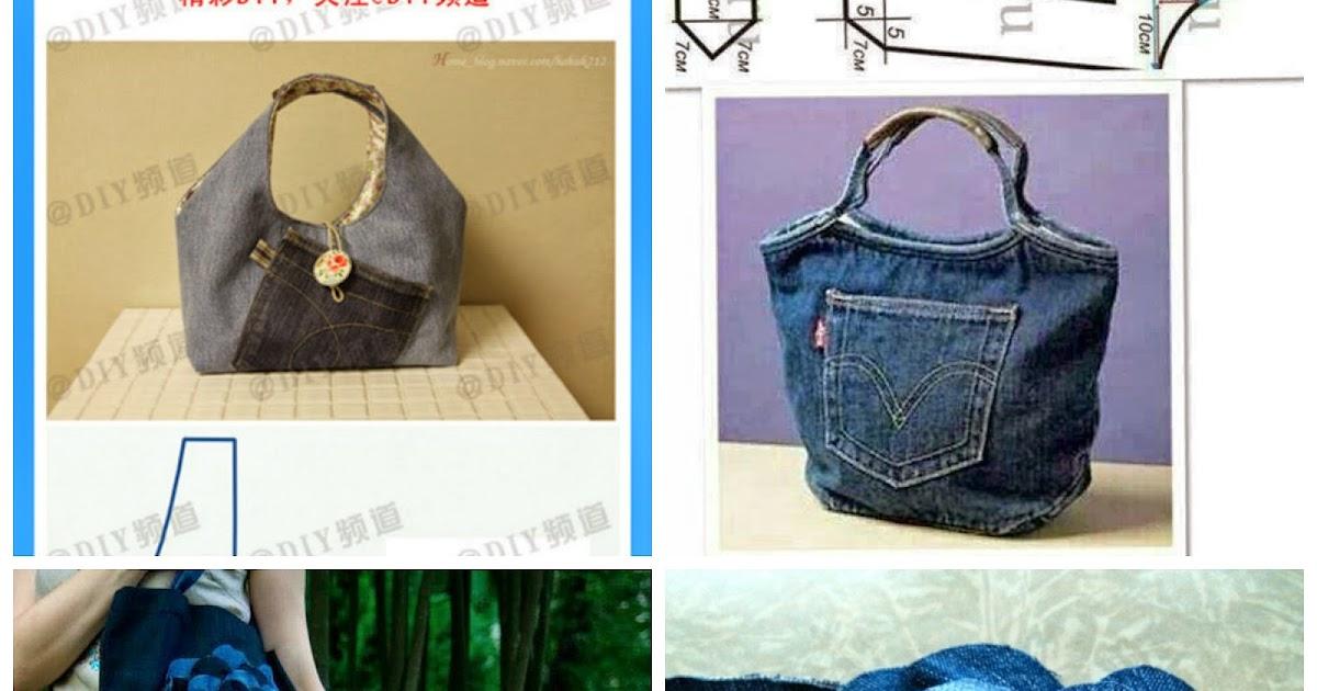 Fare una borsa con jeans riciclati donneinpink magazine for Borse fai da te jeans