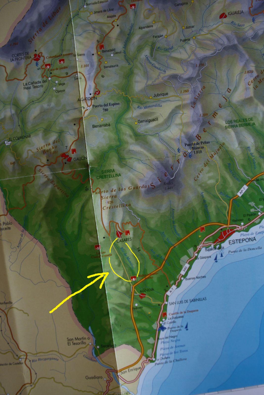 Los Baños Romano La Hedionda: : 11 km (8 km para quien decidafinalizar en Los Baños de La Hediona