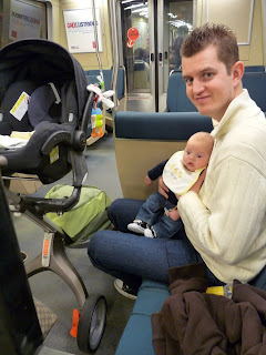 Freddie's first train ride