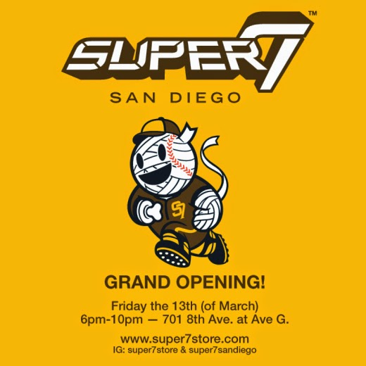 Super7 San Diego Grand Opening Party on Friday the 13th, March 2015