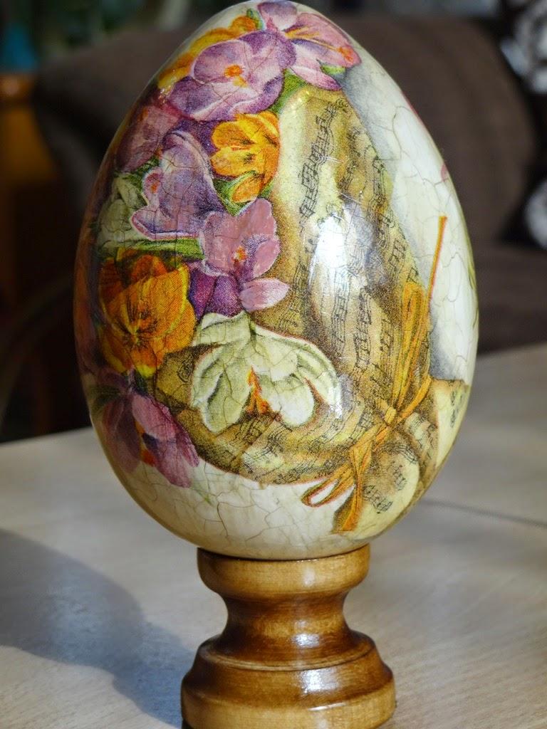pisanka decoupage, dekoracje wielkanocne