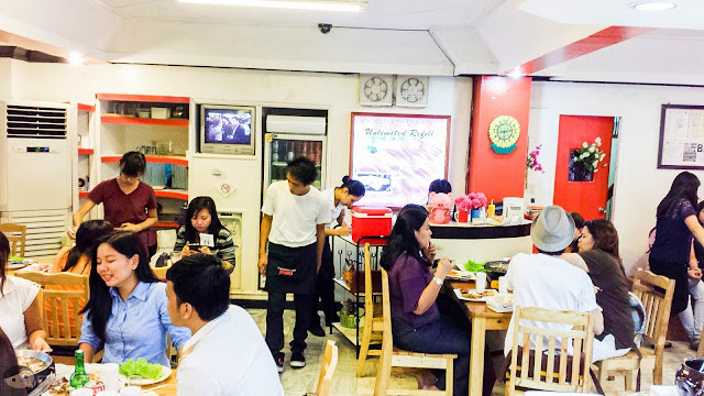 Interior of Matgalne Korean Restaurant