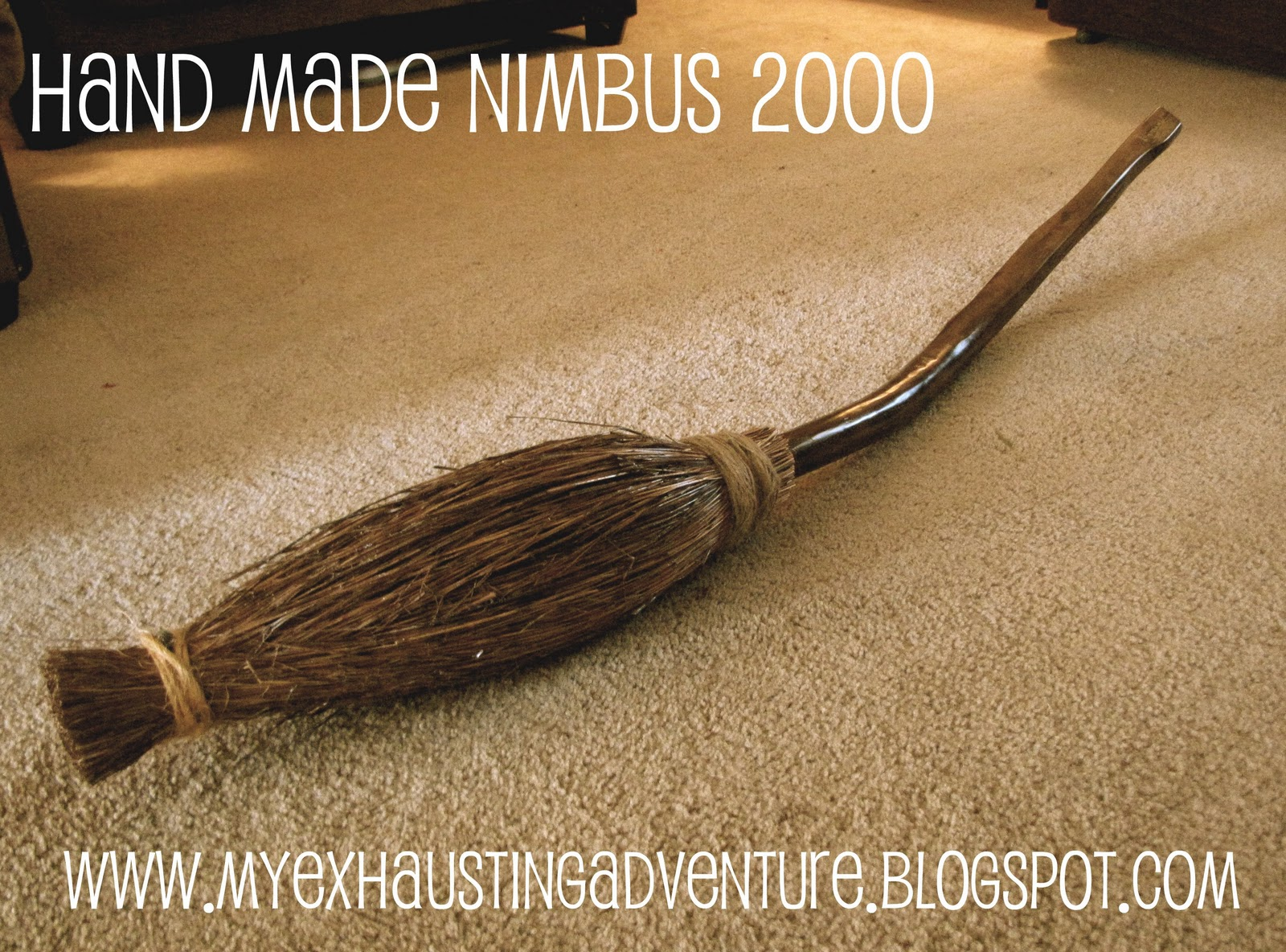 Julies Exhausting Adventure Home Made Harry Potter Broom