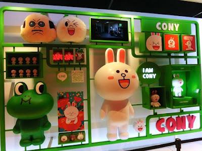 LINE Cony at Taipei Main Station Taiwan