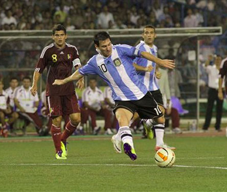 Argentina beat Venezuela 1-0