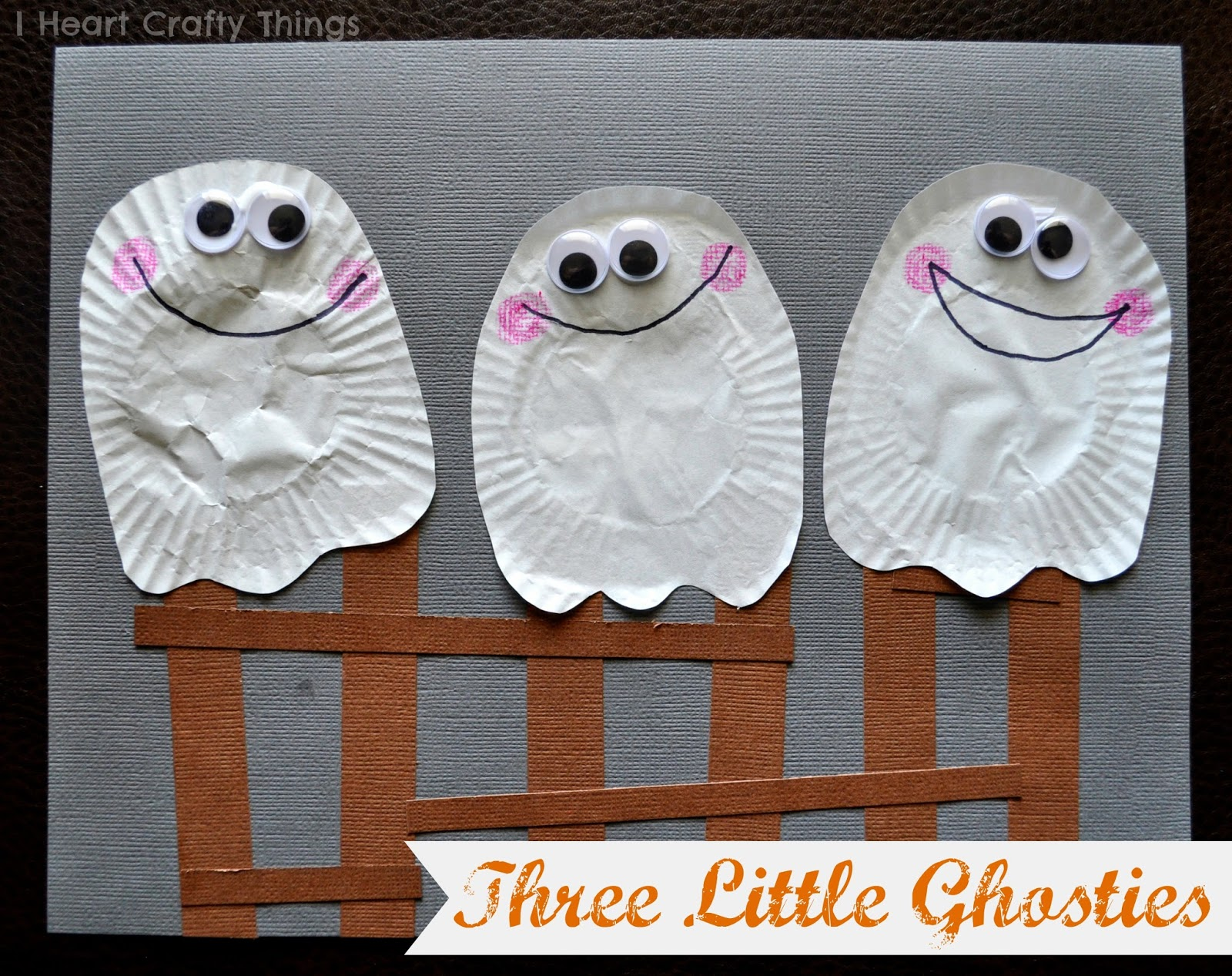 30 days of halloween three little ghosties kids craft i for Crafts for little kids