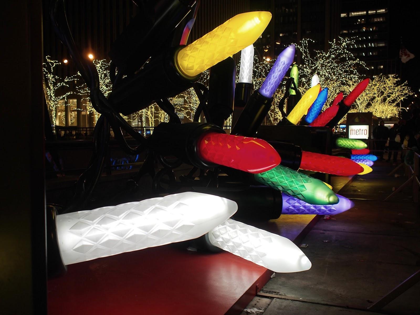 Lights #lights  #holidays #besttimeoftheyear #nyc ©2014 Nancy Lundebjerg