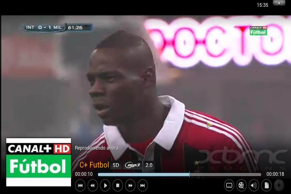 XBMC Canal+ HD Fútbol