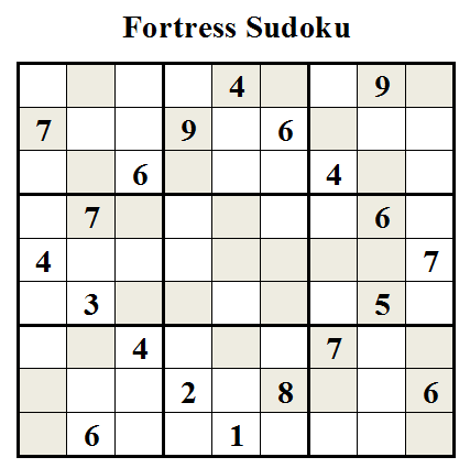Fortress Sudoku (Daily Sudoku League #30)