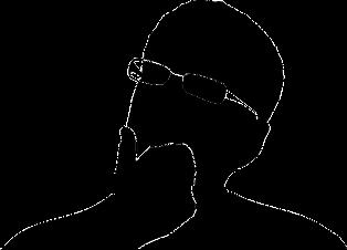 foto di sagoma nera con occhiali