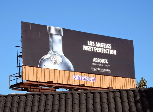 Los Angeles meet perfection Absolut Vodka billboard