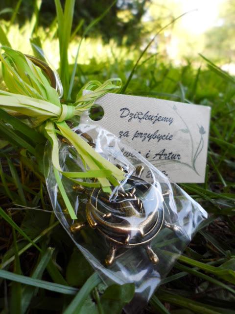 podziękowania dla gości,prezenty dla gości weselnych,breloczek