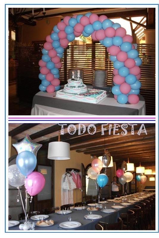 Decoraci n con globos de todo fiesta decoraciones para 1 for Decoracion de cielo