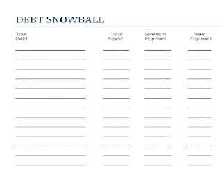 print your own debt snowball sheet here print your own debt snowball ...