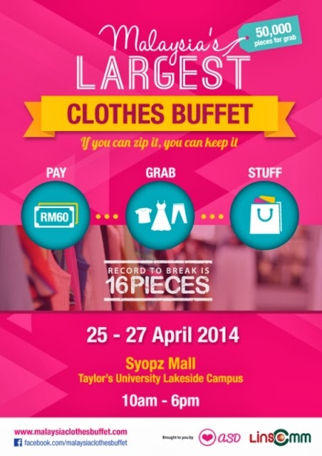 Malaysia Largest Clothes Buffet 2014, Malaysia Clothes Buffet, affordable wear, fashion buffet, shopping, cheap shopping, grab all you can
