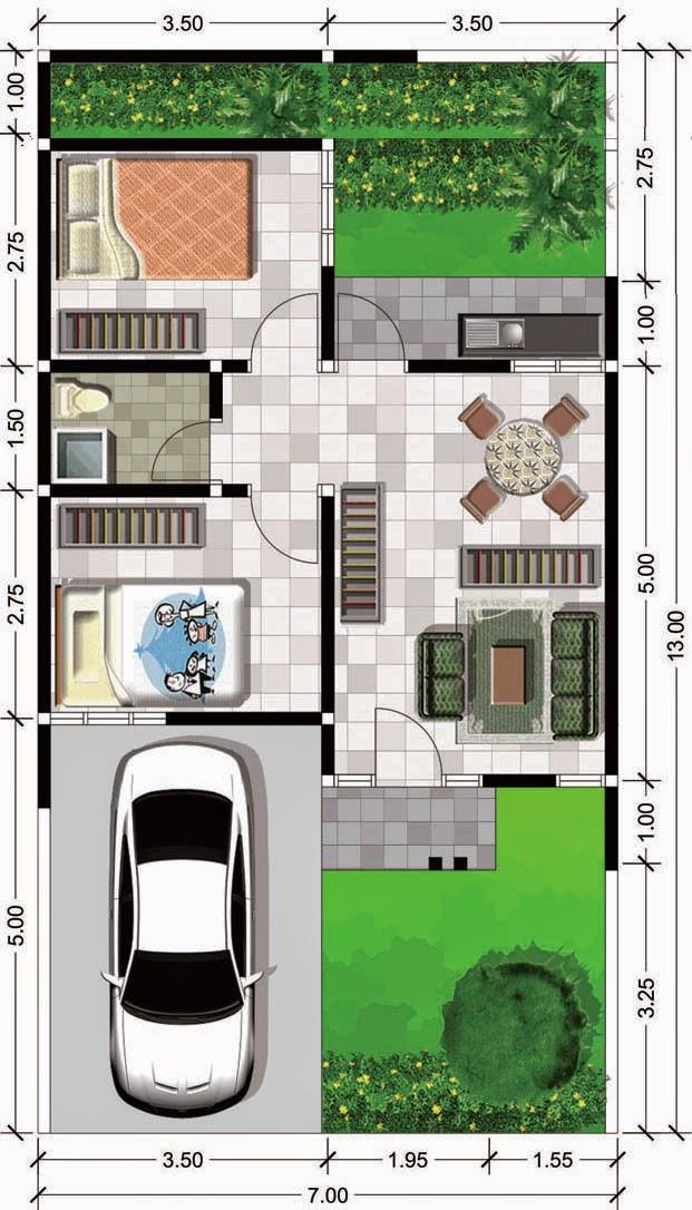 Denah Ruang Rumah Type 45 Denah Susunan Tata Ruang Untuk Rumah