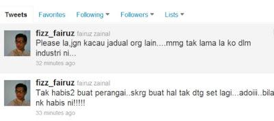 Gambar Fizz Fairuz Di Twitter Marahkan Nur Fathia
