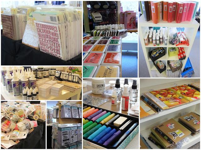 Scrap & Shop: Sticker, Kollektionen, Stempel, Farben, u.v.m.