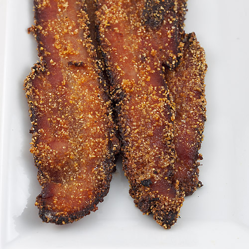 Cornmeal and Brown Sugar Crusted Bacon | Nesting Project Photography